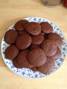 Biscuits courgettes et chocolat