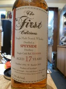Speyside 17 ans The First Editions, 61.2%
