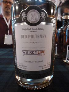 Les 2 embouteillages exclusifs du Whisky Live 2015 : Arran 15 ans à 55% (OB) et Old Pulteney 2006/2015 Malts of Scotland à 55.9%