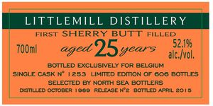 Littlemill 25 ans Hart Brothers for Belgium, 1989/2015, 52.1%