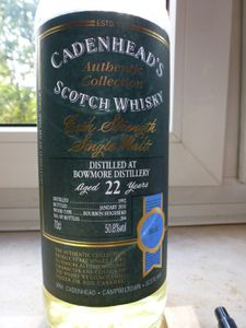Bowmore 22 ans Cadenhead's Authentic Collection, 1992/01.2015, 50.8%