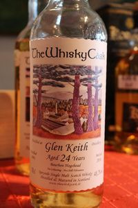 Glen Keith 24 ans The Whisky Cask, 1991/2016, 48.2%