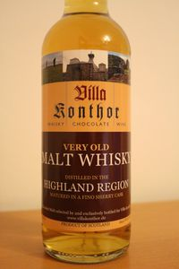 Very Old Malt Whisky, Villa Konthor, Fino Sherry, 44.4%