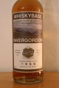 "Invergordon 12.1972/01.2016 Whiskybase ""70000 bottles on The Wall"", 43 ans, 49.7%"