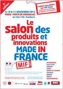 Invitation gratuite pour le Salon des produits et de l'Innovation Made in France
