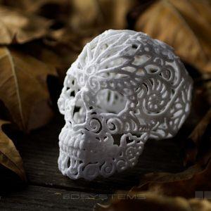 crâne en sucre réalisé par Joshua Harker