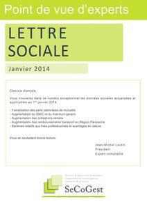 Lettre sociale janvier 2014