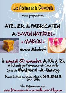 Atelier &quot&#x3B;Venez apprendre à fabriquer vos savons naturels maison&quot&#x3B; 2ème édition