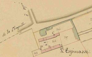 L'Espinasse sur le cadastre de 1831.