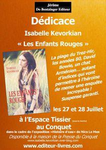 &quot&#x3B;Les Enfants Rouges&quot&#x3B; : Dédicace à Tissier, Le Conquet