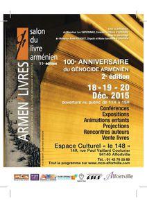 Dédicaces au salon Armen livres d'Alfortville : 18, 19, 20 décembre