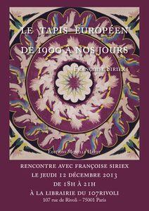 Beaux Livres : &quot&#x3B;Le Tapis Européen, de 1900 à nos jours&quot&#x3B;