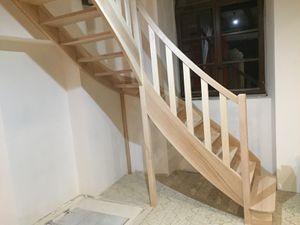 Partie basse de l'escalier