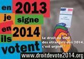 Droit de vote pour tous les résidents étrangers dès 2014