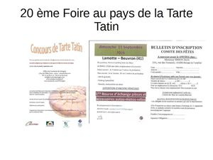 20 ème Foire au pays de la Tarte Tatin