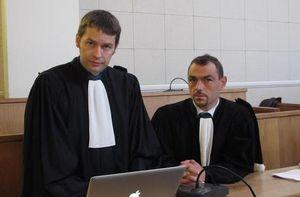 1er jour du procès, avec mon associé François Gaborit