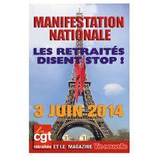Pour l'augmentation des retraites manifestation nationale le 3 juin à Paris