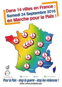 Samedi 24 septembre 2016  Marchons ensemble pour la Paix à Paris