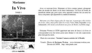 In vivo, illustration du livre de Marianne Camara