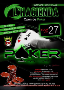 tournoi poker a l'hacienda