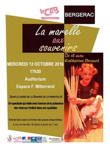 Mercredi 12 octobre: spectacle à l'auditorium F. Mitterrand