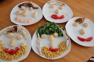 Salades composées rigolotes
