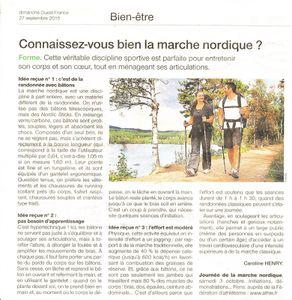 article Ouest France - connaissez vous la Marche Nordique