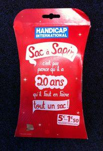 1 SAC A SAPIN = 1.5 € POUR LES HANDICAPÉES !