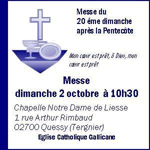 Messe du 2 octobre 2016
