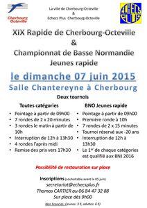 XIXème Rapide de Cherbourg &amp&#x3B; Championnat de Basse-Normandie Rapide Jeunes