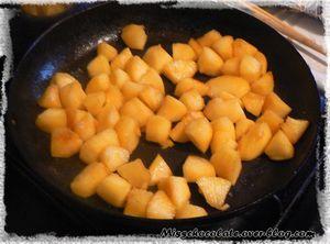 Recette express : Gâteau aux pommes, cuit à la poêle !