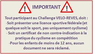 Challenge 2013, Document obligatoire...