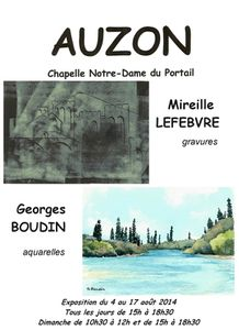 Vernissage à la chapelle d'Auzon