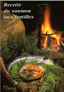 Tradition auvergnate: Le saumon aux lentilles