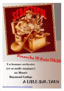 La vidéo du spectacle de Sébastopol homme-orchestre