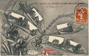 Iris -2256- Meilleures amitiés de N.D. de COURSON. France. 1909.