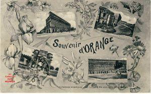 Iris -2128- Multivues : Souvenir d'ORANGE. France. 1915.
