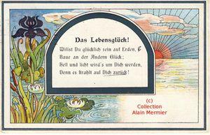 Iris -3602- Das Lebensglück ! &quot&#x3B;Le bonheur de la vie&quot&#x3B;. Allemagne.1921.