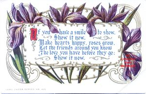Iris -1893- Easter. If you have a smile. U.S.A.