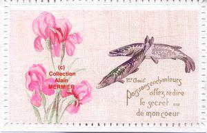Iris - 1848- 1 avril. &quot&#x3B;Poissons enchanteurs&quot&#x3B; France. Vers 1910.