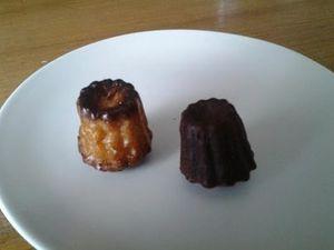Cannelé au chocolat
