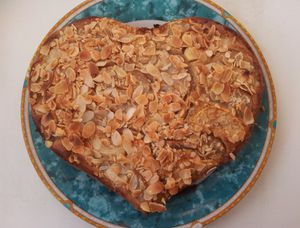 Gâteau à la pomme et à la poire.