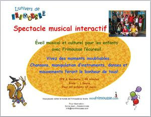 Spectacle musical interactif