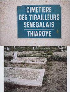 © Dr. P.Herzberger-Fofana. Le cimetière de Thiaroye, à 20 kms de Dakar, est dédié aux victimes du massacre du 1er décembre 1944