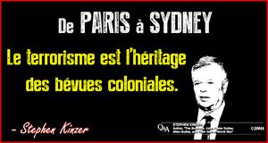 De Paris à Sydney – Le terrorisme est l'héritage des bévues coloniales. (Boston Globe)