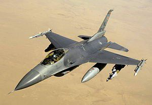 Vue aérienne d'un jet – F-16 Fighting Falcon