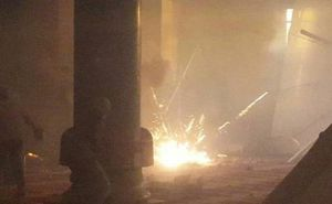 Bombs and gas bomb in Al Aqsa
