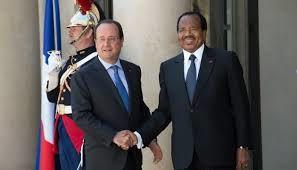 Réception de Biya à l'Elysée