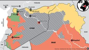 L'armée syrienne entre dans le fief de Daech à Raqqa, une première depuis 2014 (L'Express)