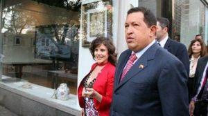 Eva Golinger et Hugo Chavez